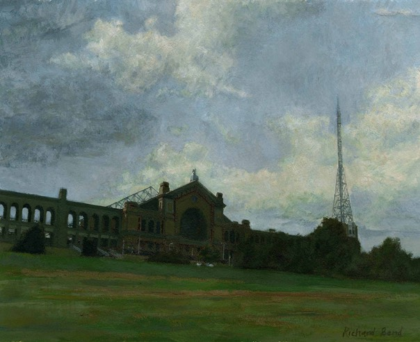 "Alexandra Palace from the south 2. 9.5"" x 12.5"" (24 x 31 cms)"