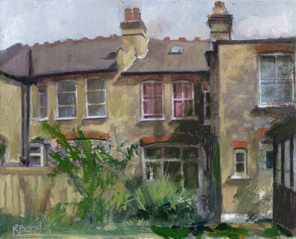 "Back of house. 8"" x 10"" (20 x 25 cms)"