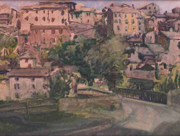 "Combret sur Rance: view from bridge. 8"" x 10"" (20 x 25 cms)"
