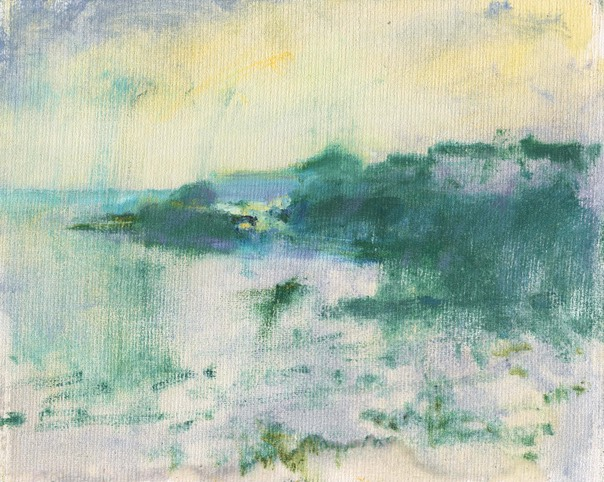 "Coverack view from north 2. 8"" x 10"" (20 x 25 cms)"