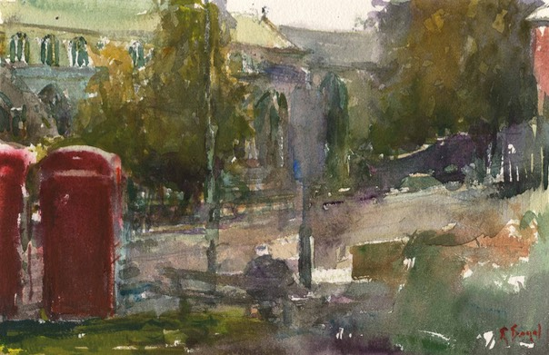 "From St Andrew's churchyard, Norwich. 7"" x 10"" (18 x 25 cms)"
