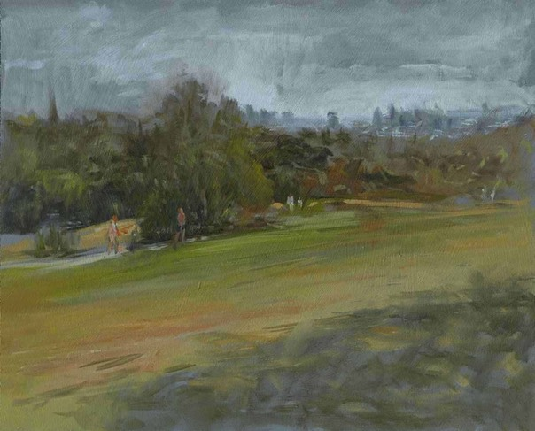 "Hampstead Heath diptych right panel. 8"" x 10"" (20 x 25 cms)"
