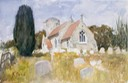 "Kilverstone Church. 13"" x 20"" (32 x 50 cms)"