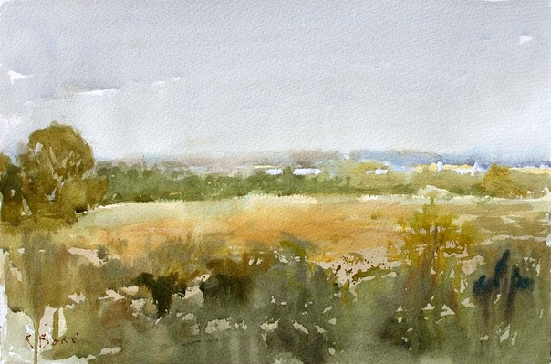 "Landscape near Blythborough 1. 13"" x 20"" (33 x 51 cms)"