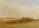 "Spring morning, Dunwich Marshes. 10"" x 14"" (25 x 35 cms)"