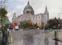 "St Paul's Cathedral. 10"" x 14"" (25 x 35 cms)"