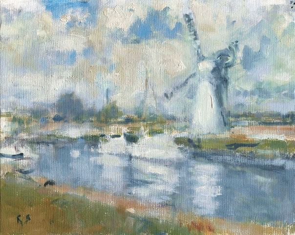 "Thurne Mill, Norfolk 1. 8"" x 10"" (20 x 25 cms)"