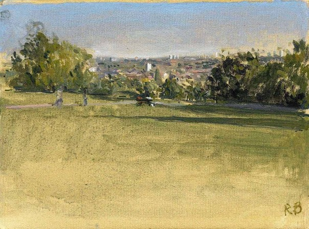 "Towards the City from Alexandra Park 10. 6"" x 8"" (15 x 20 cms)"