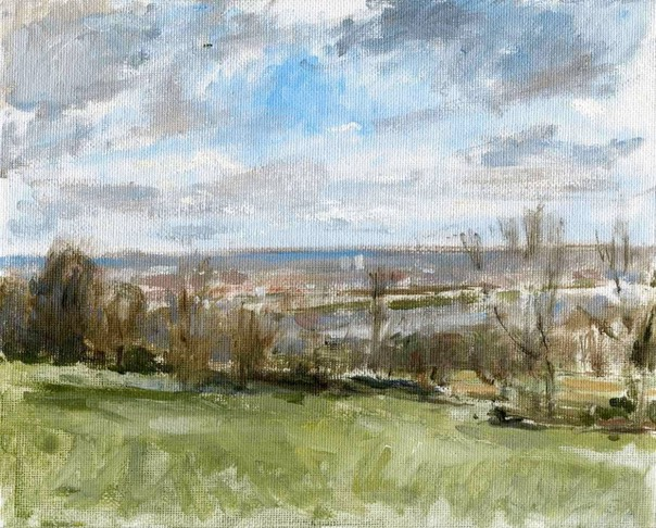 "Towards the City from Alexandra Park 06. 8"" x 10"" (20 x 25 cms)"