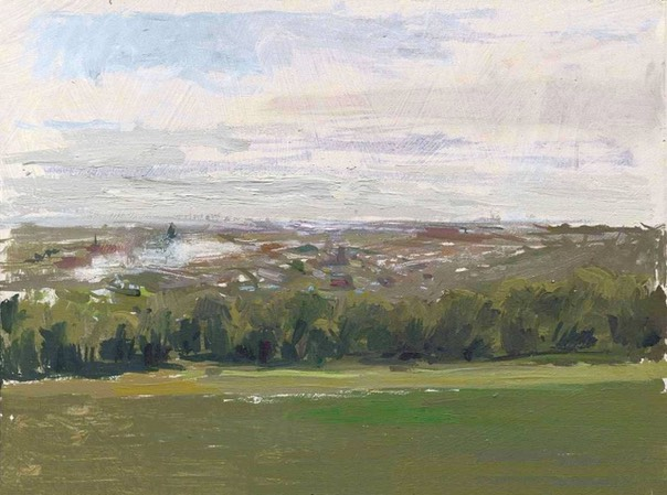 "Towards the City from Alexandra Park 05. 6"" x 8"" (15 x 20 cms)"