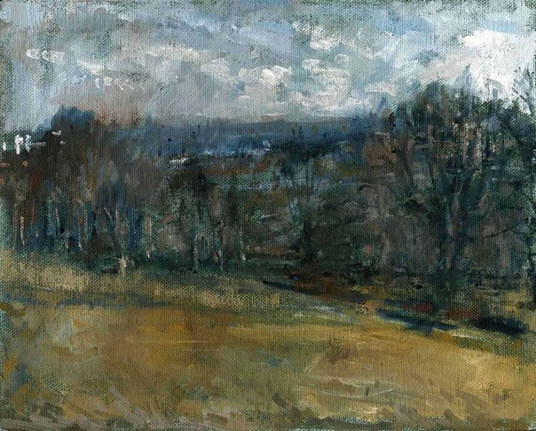 "Towards the City from Alexandra Park 14. 8"" x 10"" (20 x 25 cms)"