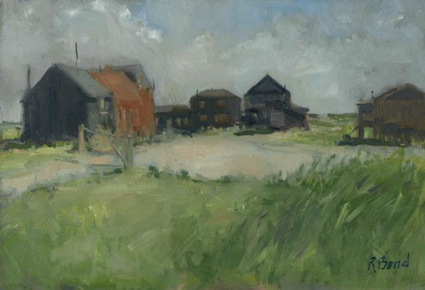 "Walberswick sheds and houses. 8"" x 12"" (20 x 30 cms)"