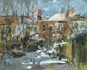 "Winter morning, Warner Road. 8"" x 10"" (20 x 25 cms)"